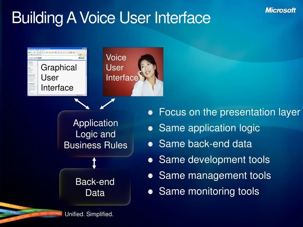Focus on the presentation layer