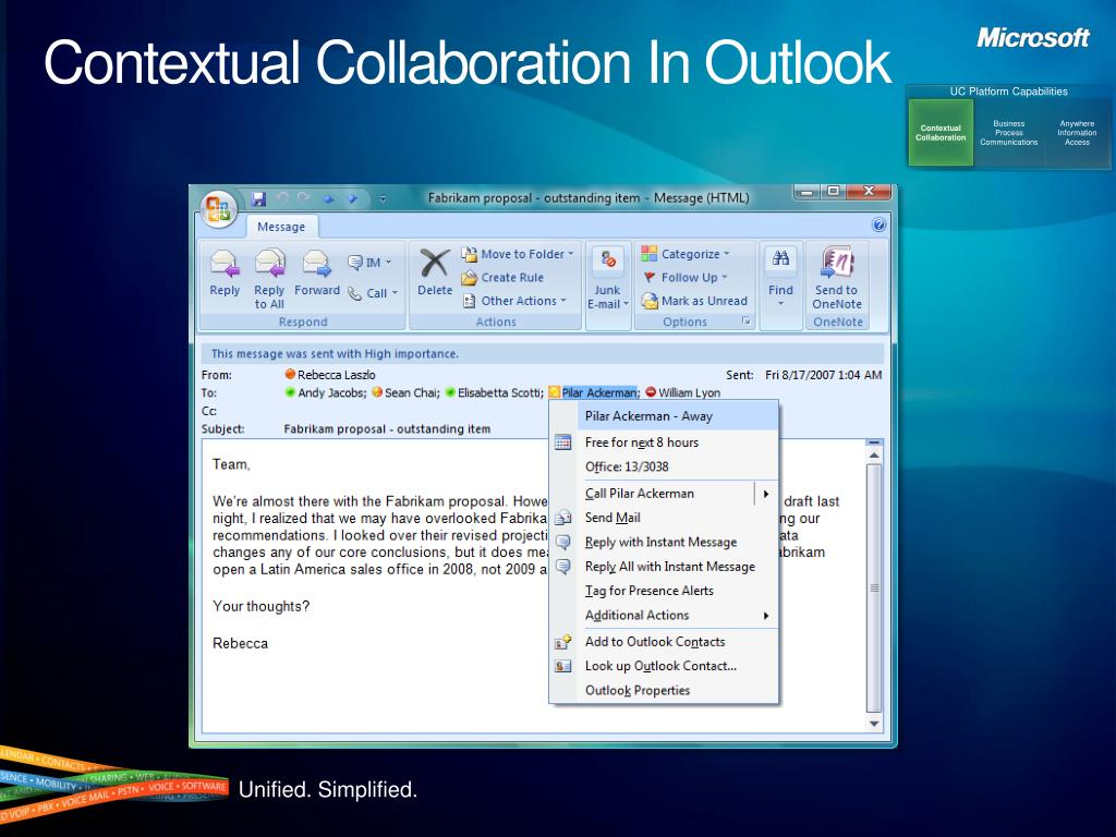 Contextual Collaboration In Outlook