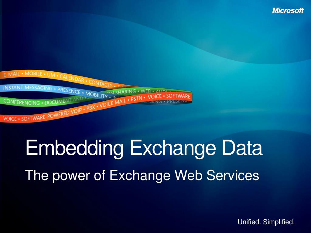 Embedding Exchange Data