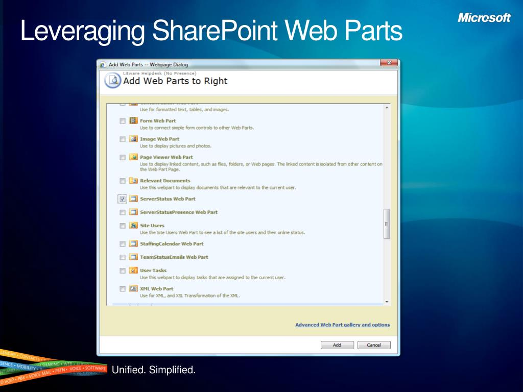 Leveraging SharePoint Web Parts