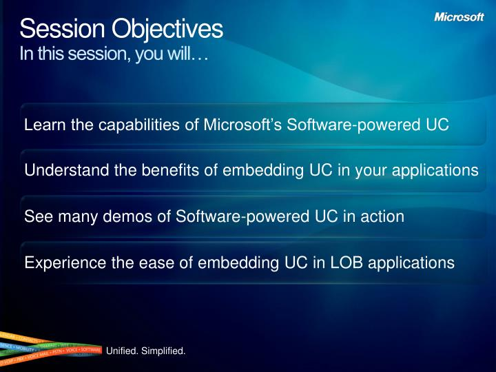 Session objectives in this session you will