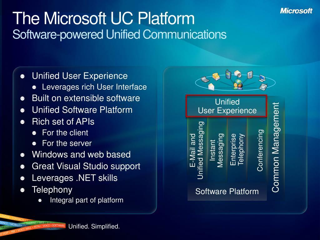 The Microsoft UC Platform