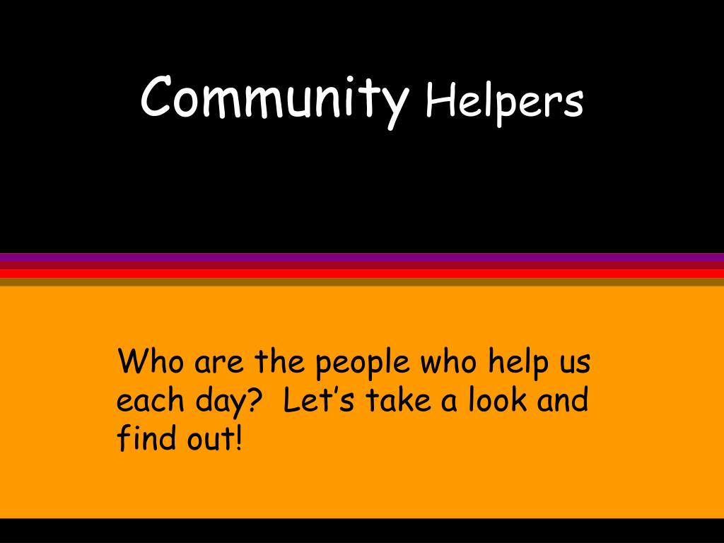 community helpers l.