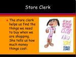 store clerk