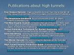 publications about high tunnels