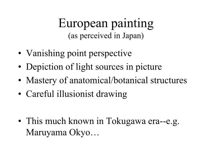 European painting as perceived in japan