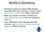benefits of volunteering12