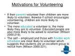 motivations for volunteering