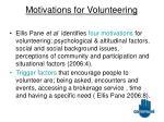 motivations for volunteering8