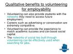 qualitative benefits to volunteering for employability15