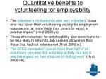 quantitative benefits to volunteering for employability17