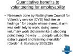 quantitative benefits to volunteering for employability18