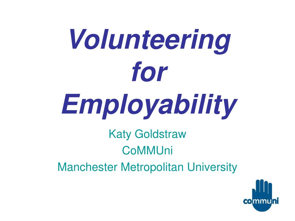 volunteering for employability l.