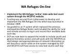 wa refuges on line