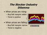 the stocker industry dilemma