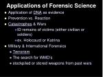 applications of forensic science31