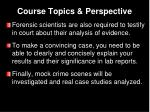 course topics perspective4