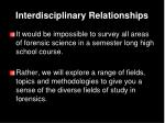 interdisciplinary relationships7