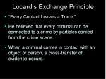 locard s exchange principle