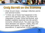 craig barrett on the economy