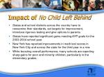 impact of no child left behind