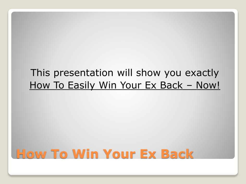 how to win your ex back l.