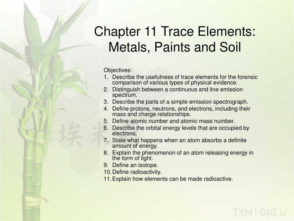 chapter 11 trace elements metals paints and soil l.