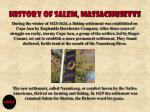 history of salem massachusetts