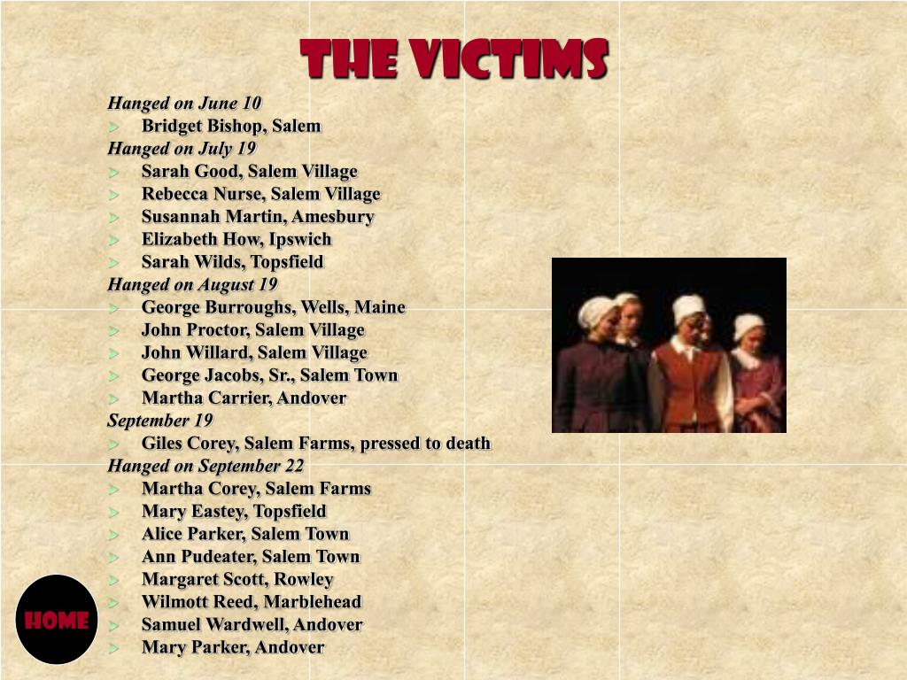 Download salem witch trials victims martha carrier free download