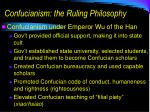 confucianism the ruling philosophy