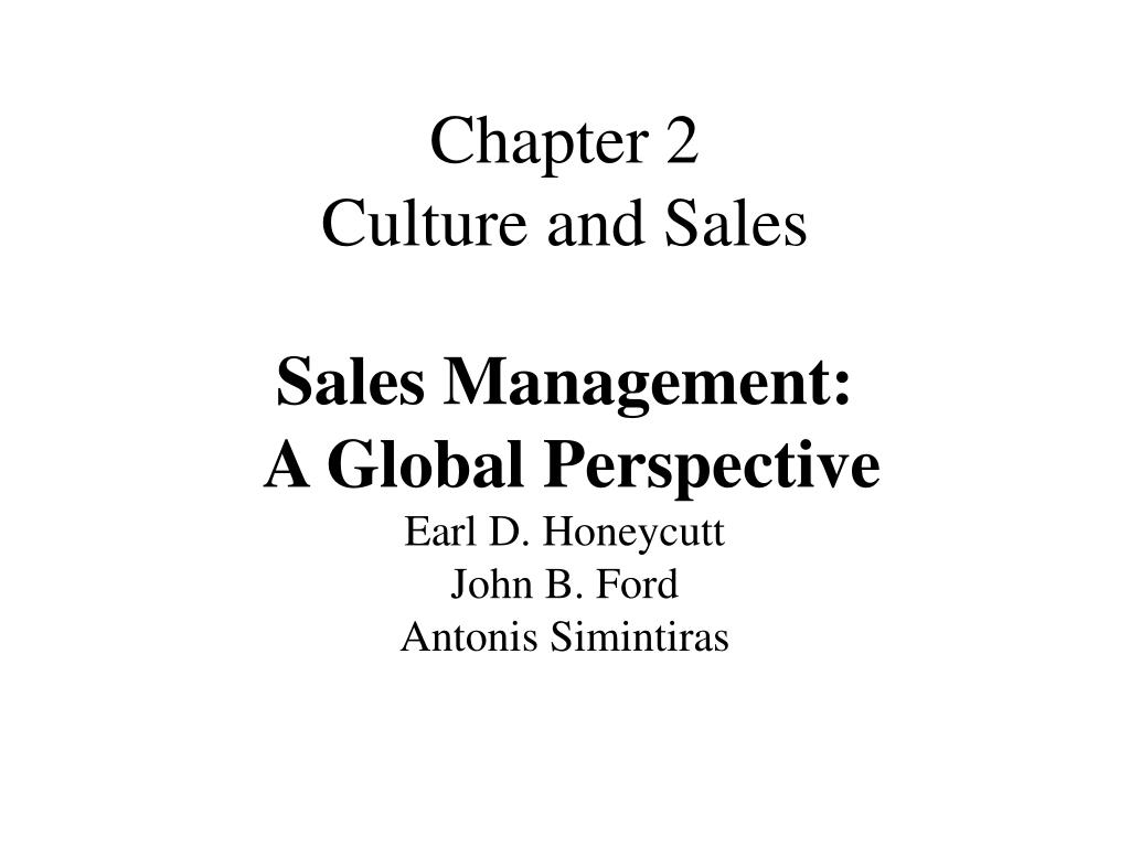 chapter 2 culture and sales l.