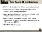 army reserve go joint experience