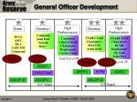 general officer development