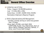 general officer overview