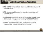 joint qualification transition