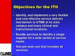 objectives for the itii