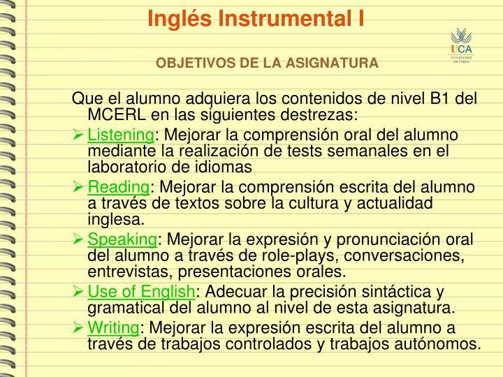Ingl s instrumental i3