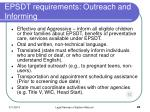 epsdt requirements outreach and informing