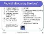 federal mandatory services