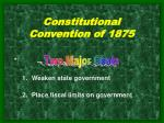 constitutional convention of 1875