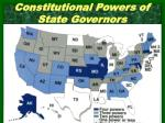 constitutional powers of state governors