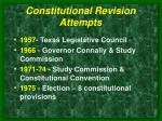 constitutional revision attempts