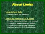 fiscal limits