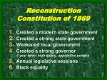 reconstruction constitution of 1869