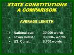 state constitutions a comparison 1