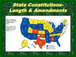 state constitutions length amendments