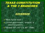 texas constitution the 3 branches 1