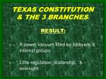 texas constitution the 3 branches 4