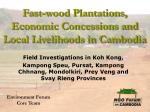 fast wood plantations economic concessions and local livelihoods in cambodia