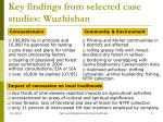 key findings from selected case studies wuzhishan